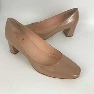 Kate spade Dolores nude patent leather pumps 7.5